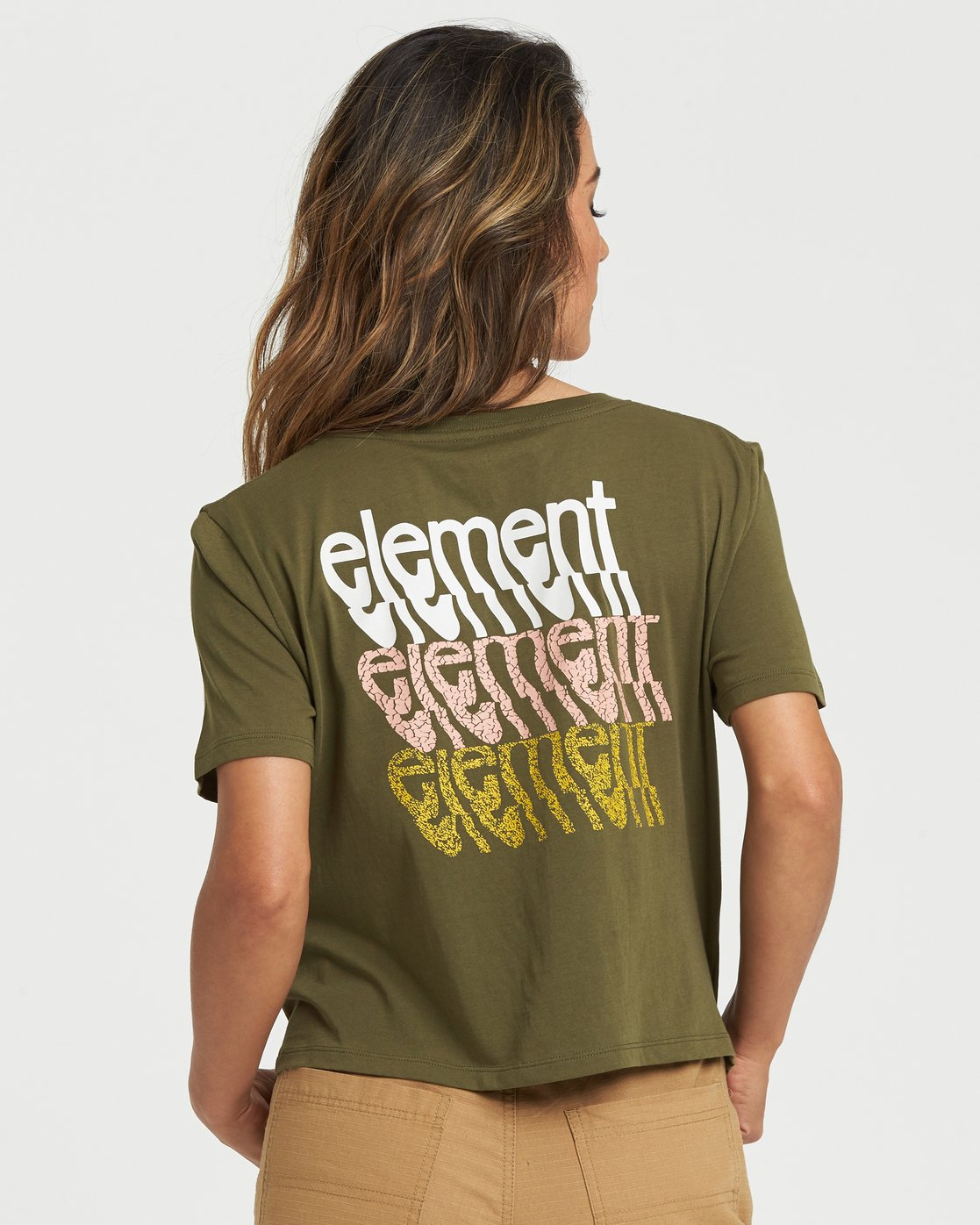 0 Branded Crop T-Shirt Beige J4981EBR Element