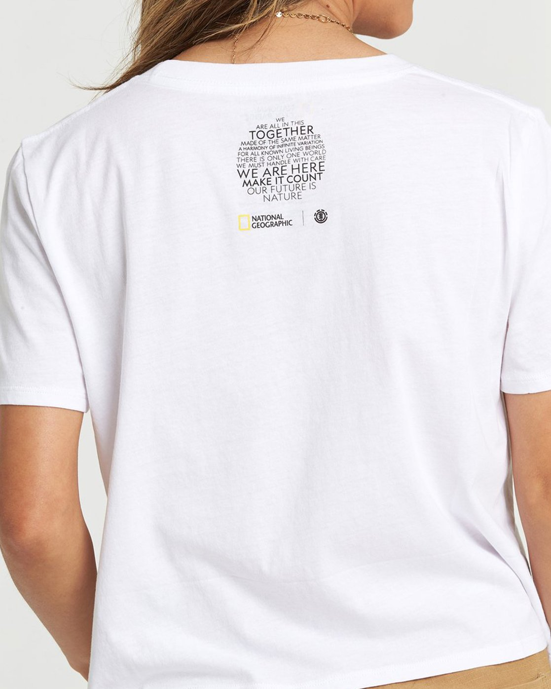 1 National Geographic Crop T-Shirt White J4981ENA Element