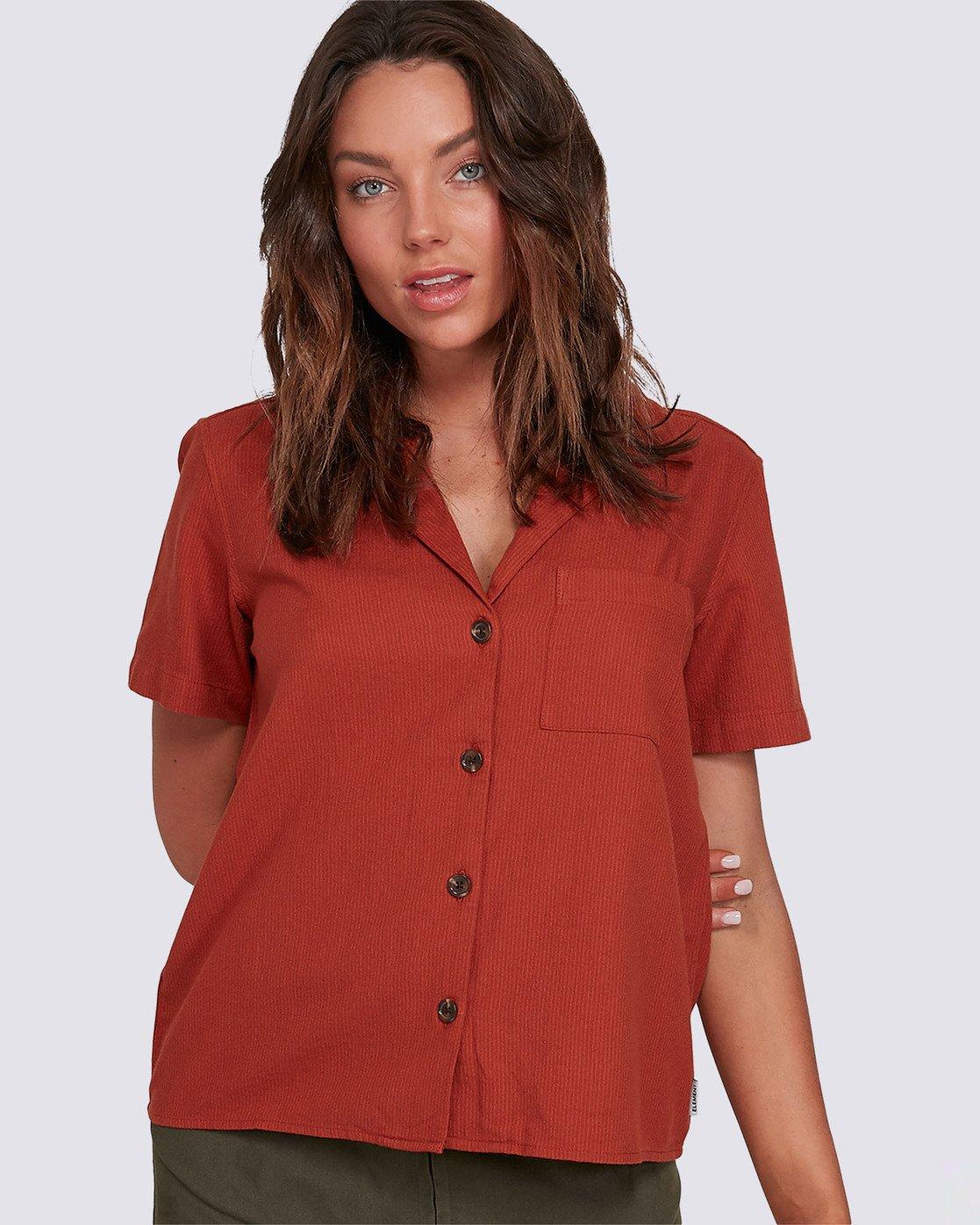 0 Darcie Woven Shirt Brown J5603EDA Element