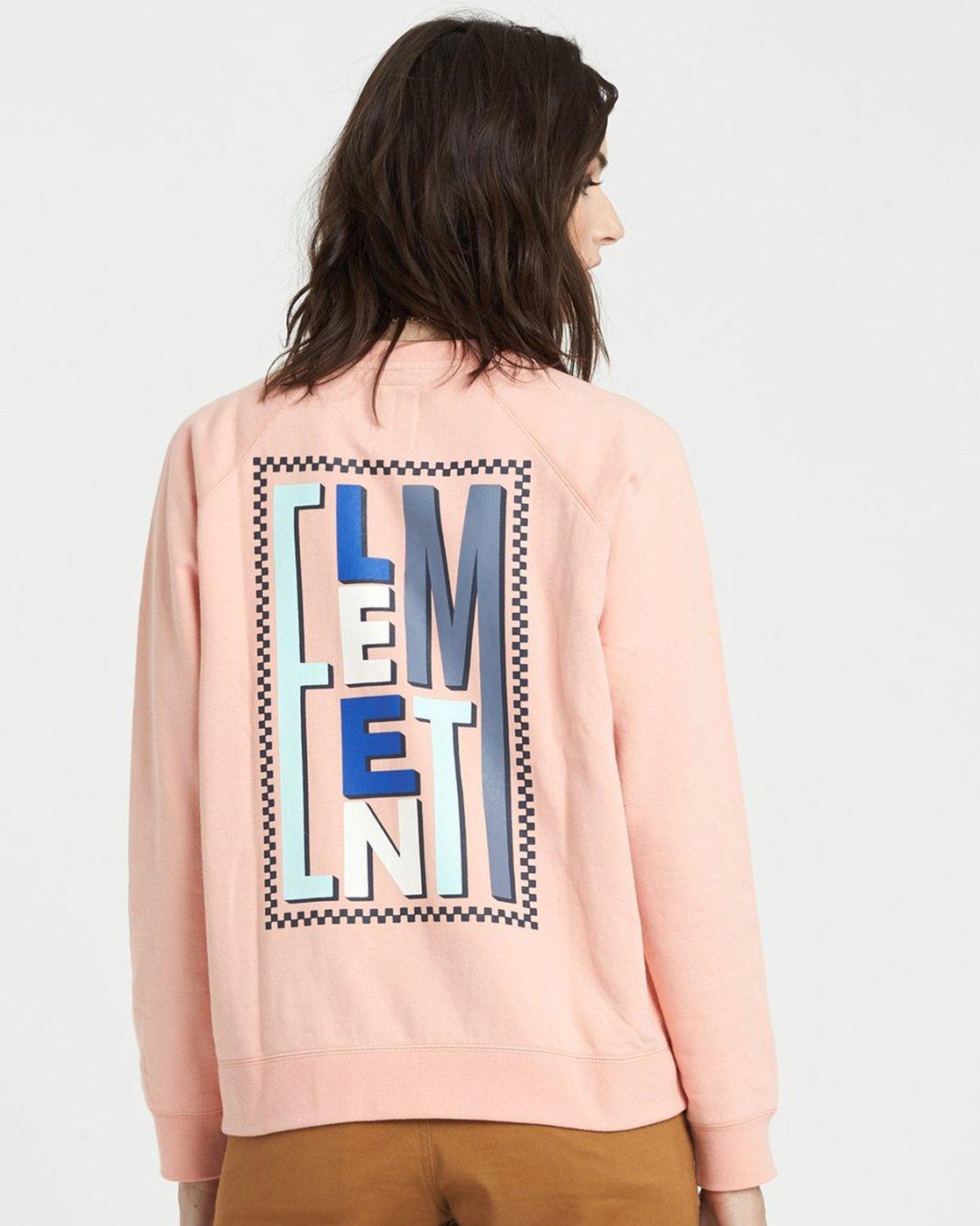 0 Branded Sweatshirt Pink J6051EBR Element