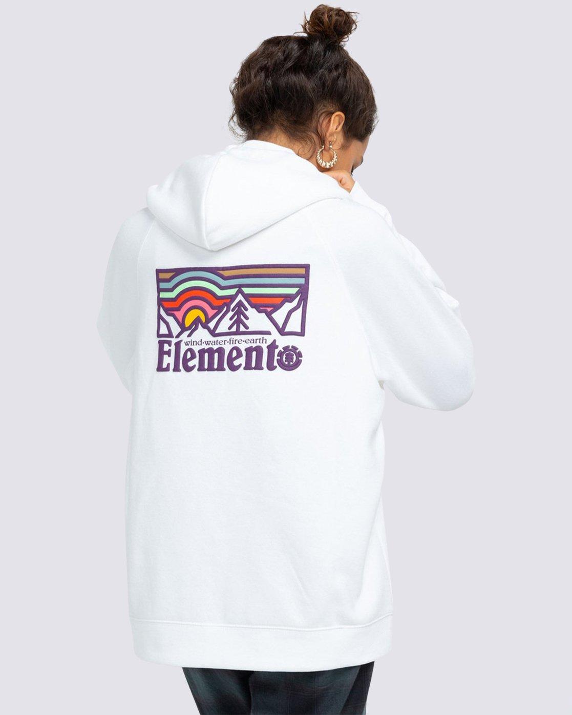 0 Landscape Hoodie White J6173ELA Element
