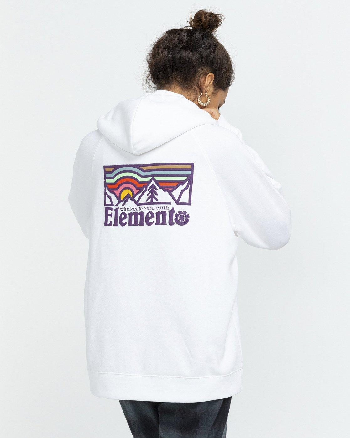 3 Landscape Hoodie White J6173ELA Element