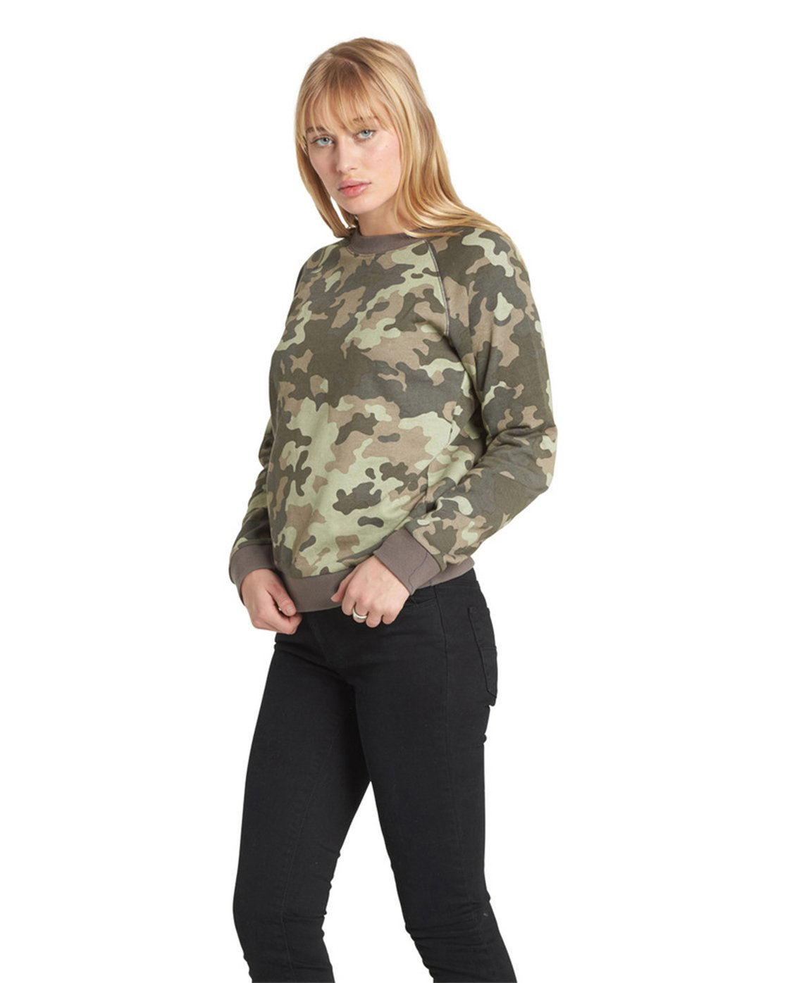 7 Get Out Crew Neck Fleece Camo J632QEGE Element