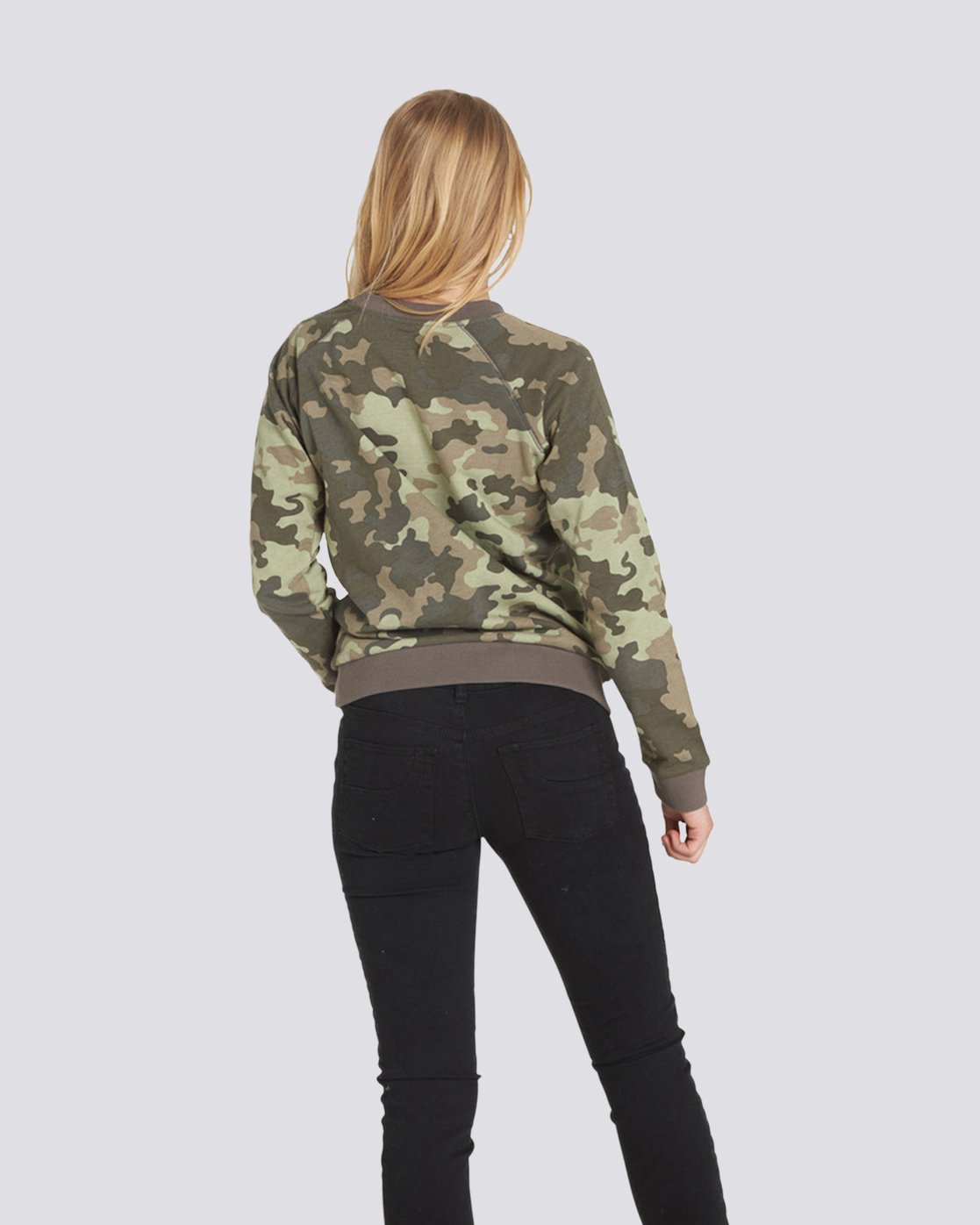 2 Get Out Crew Neck Fleece Camo J632QEGE Element