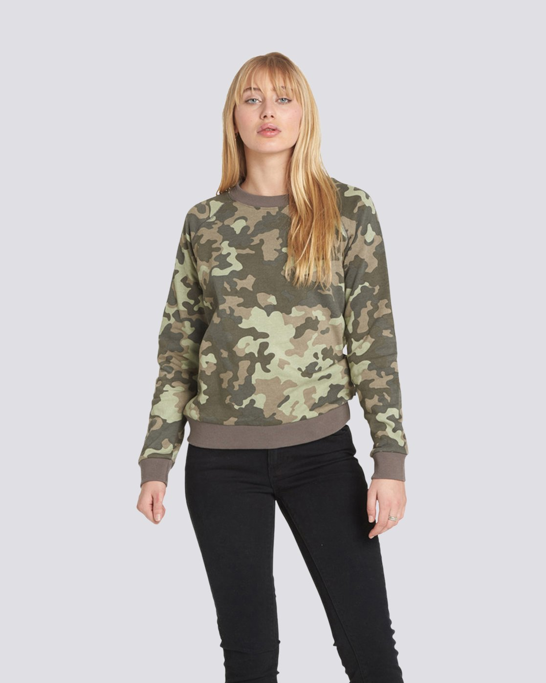 0 Get Out Crew Neck Fleece Camo J632QEGE Element