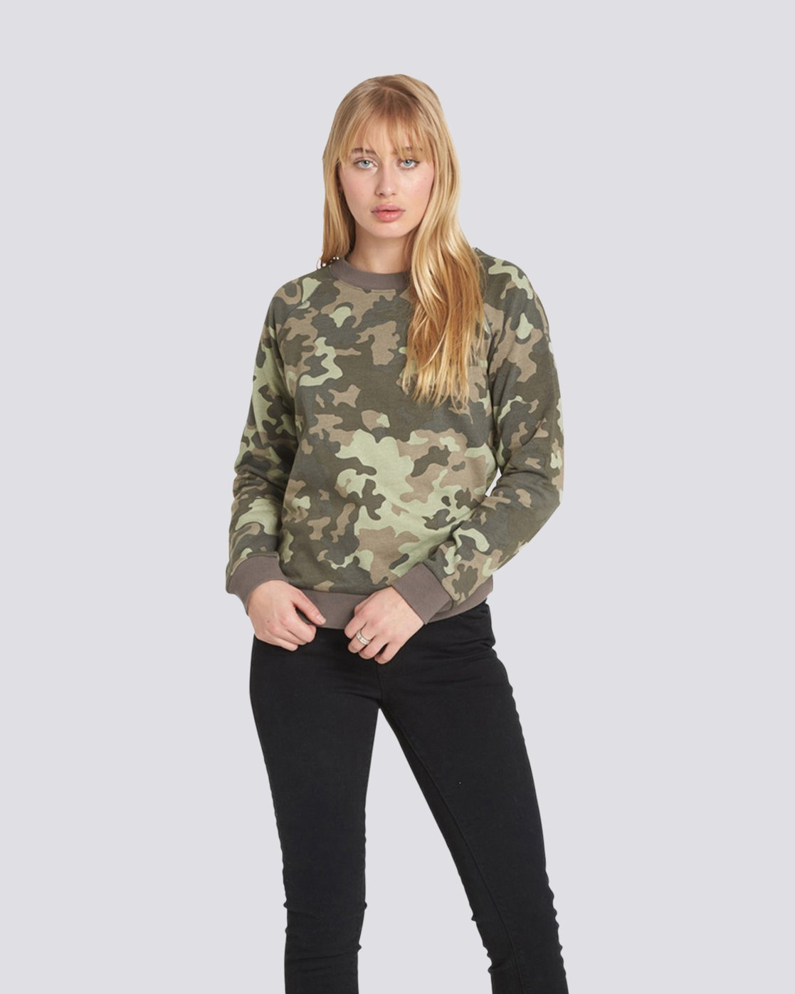 1 Get Out Crew Neck Fleece Camo J632QEGE Element