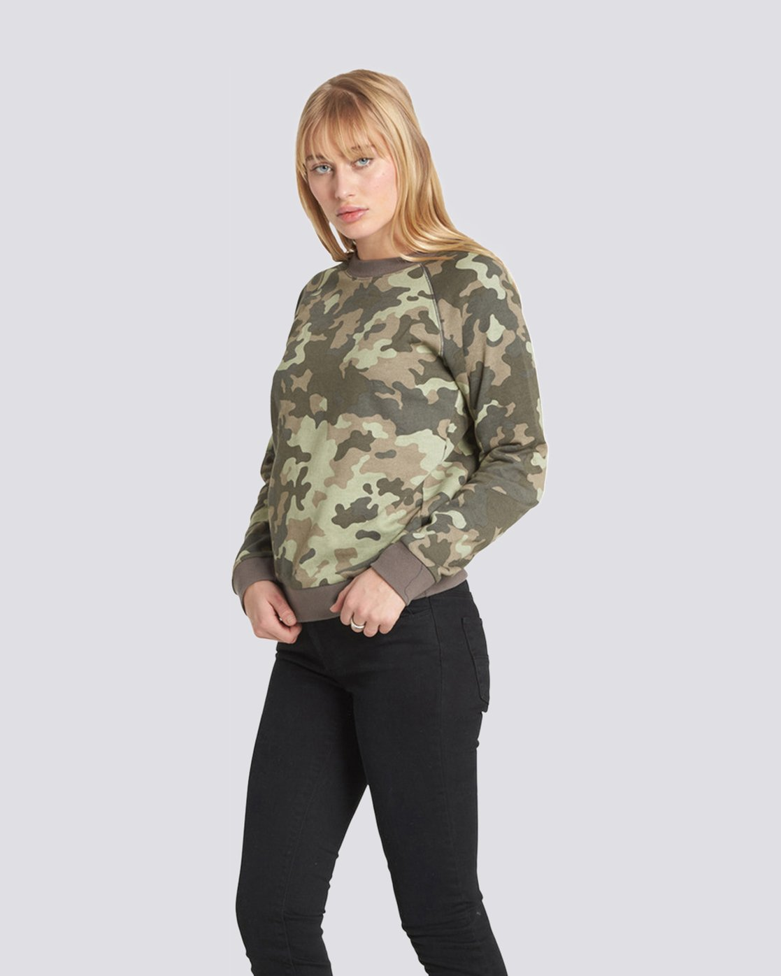 3 Get Out Crew Neck Fleece Camo J632QEGE Element