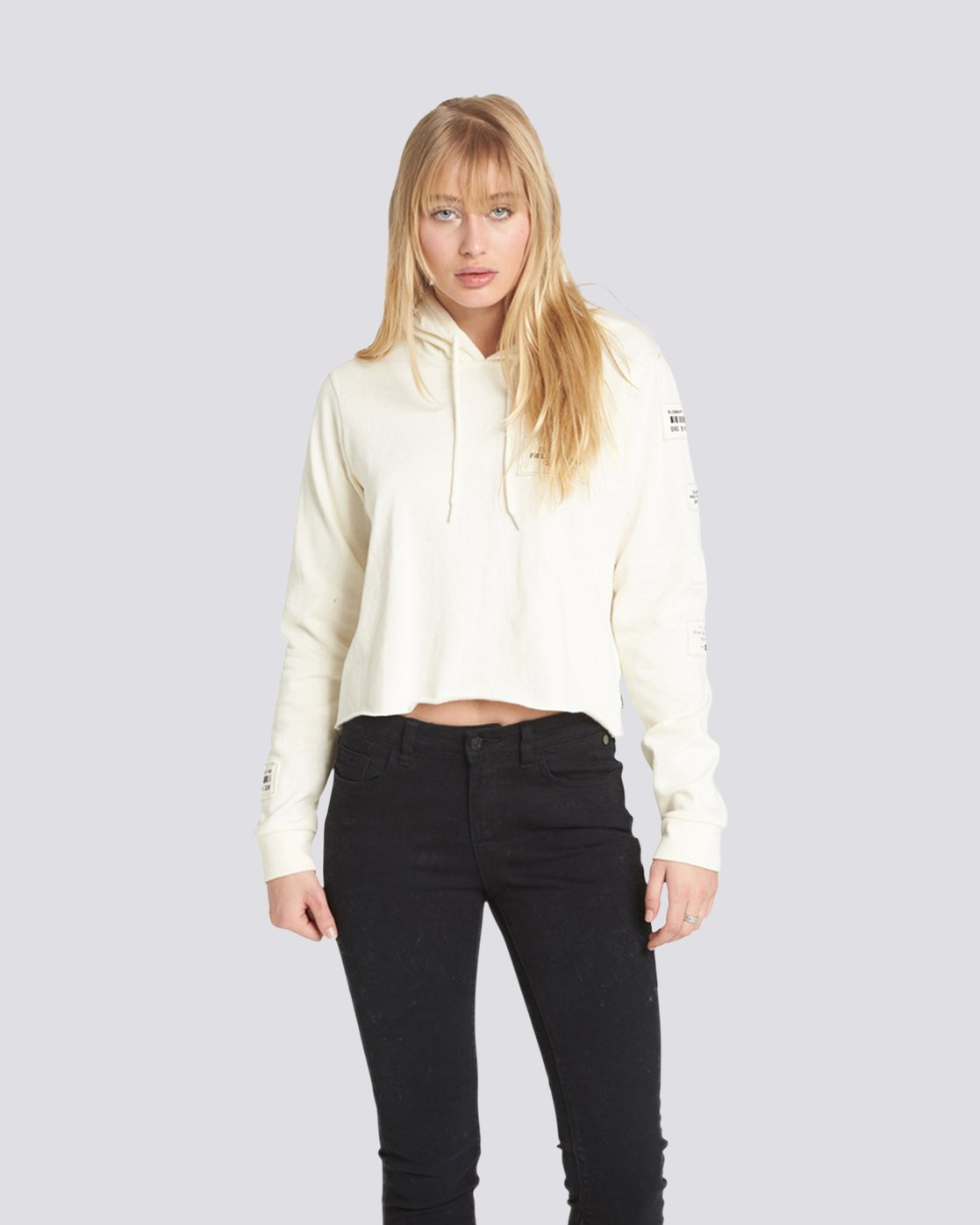 0 Skurt Cropped Hoodie White J640QESK Element