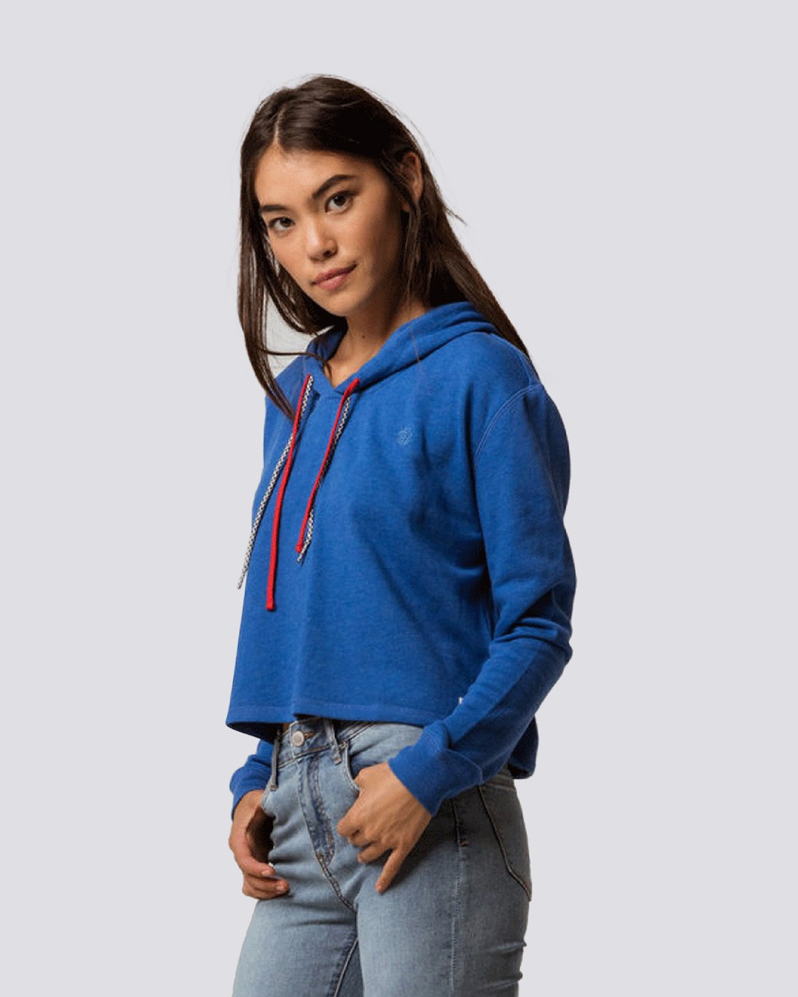 3 Lette Cropped Hoodie Blue J650QELE Element