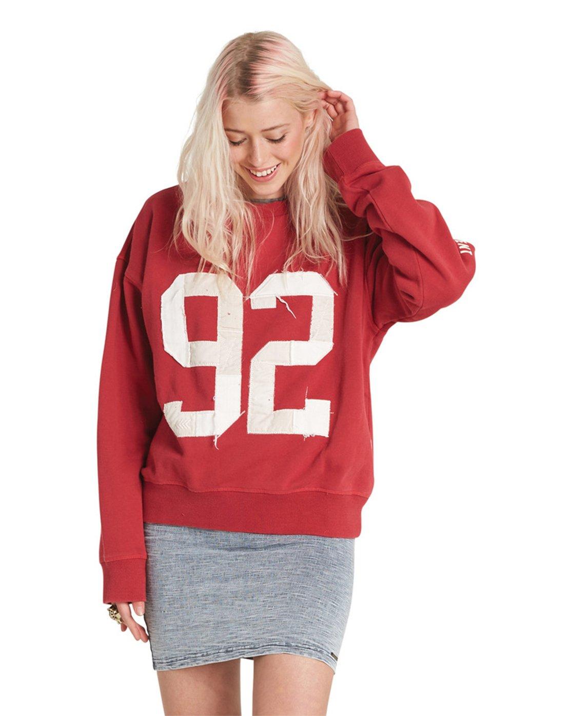 4 Season Star Crew Neck Sweatshirt Red J657SESE Element