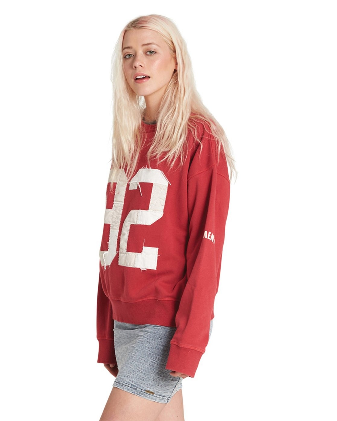 7 Season Star Crew Neck Sweatshirt Red J657SESE Element