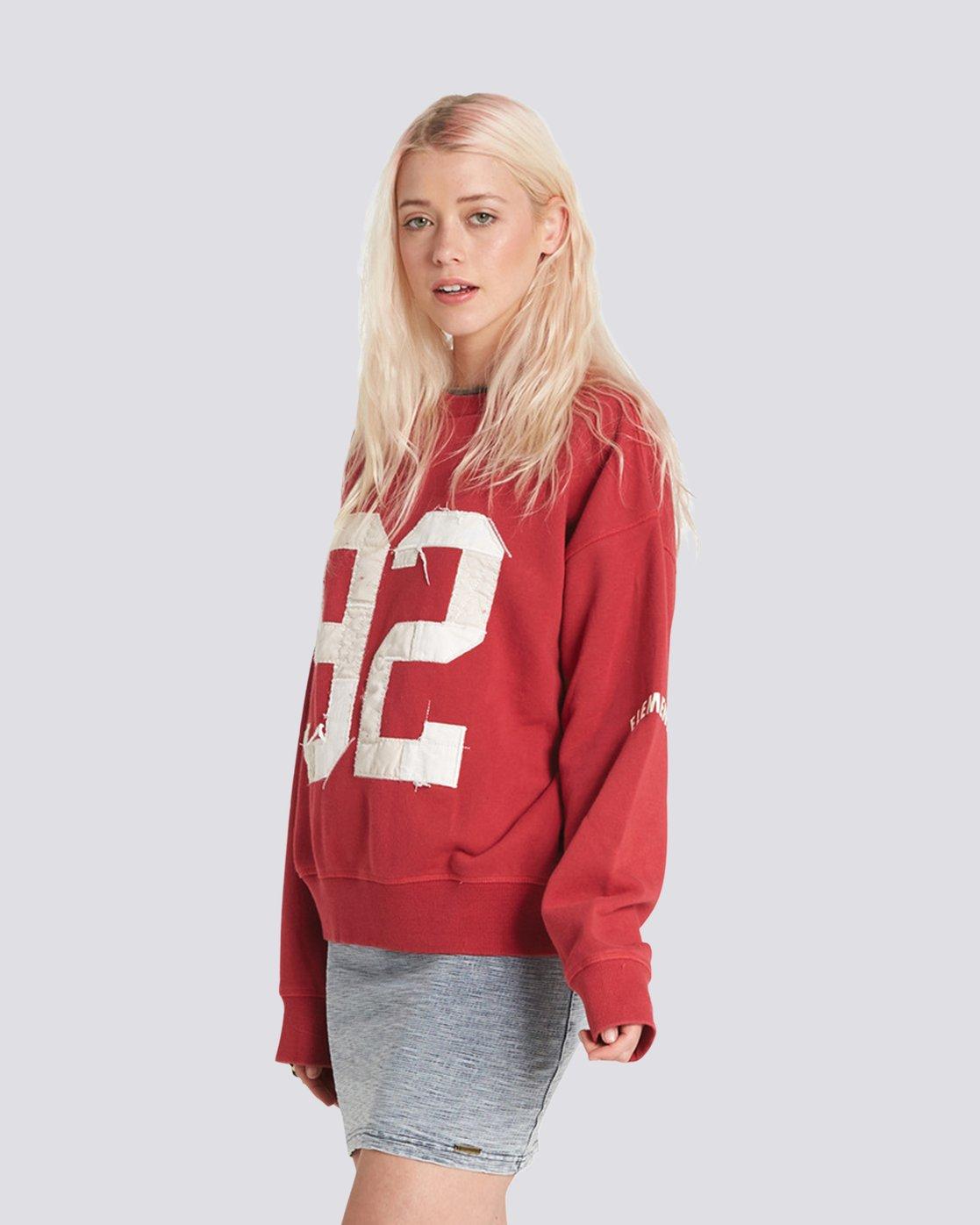 2 Season Star Crew Neck Sweatshirt Red J657SESE Element