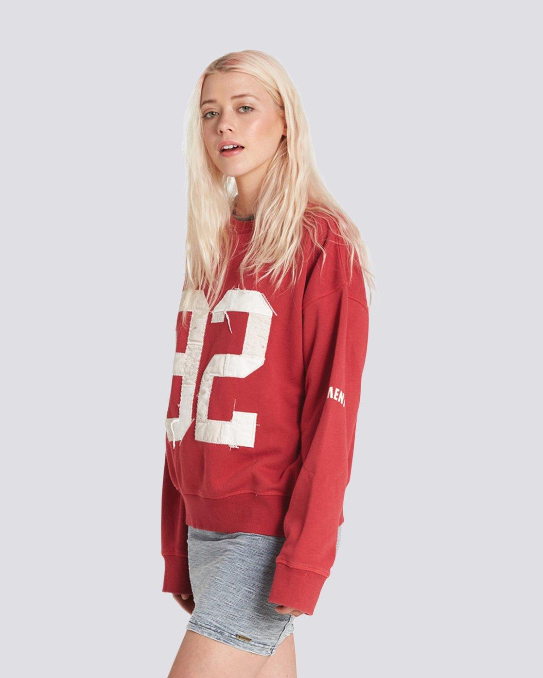 3 Season Star Crew Neck Sweatshirt Red J657SESE Element