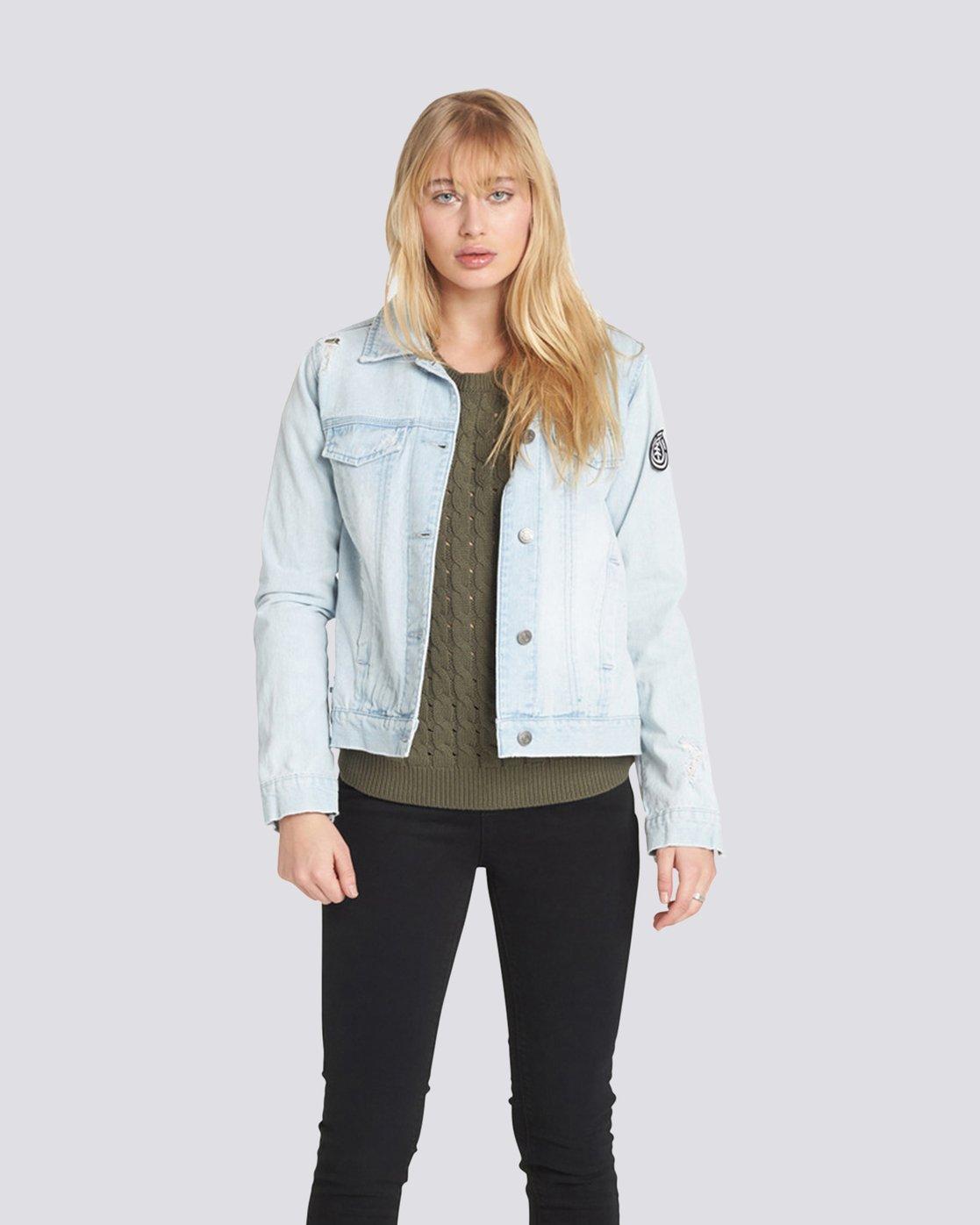 0 Carry On Denim Jacket Grey J707QECA Element