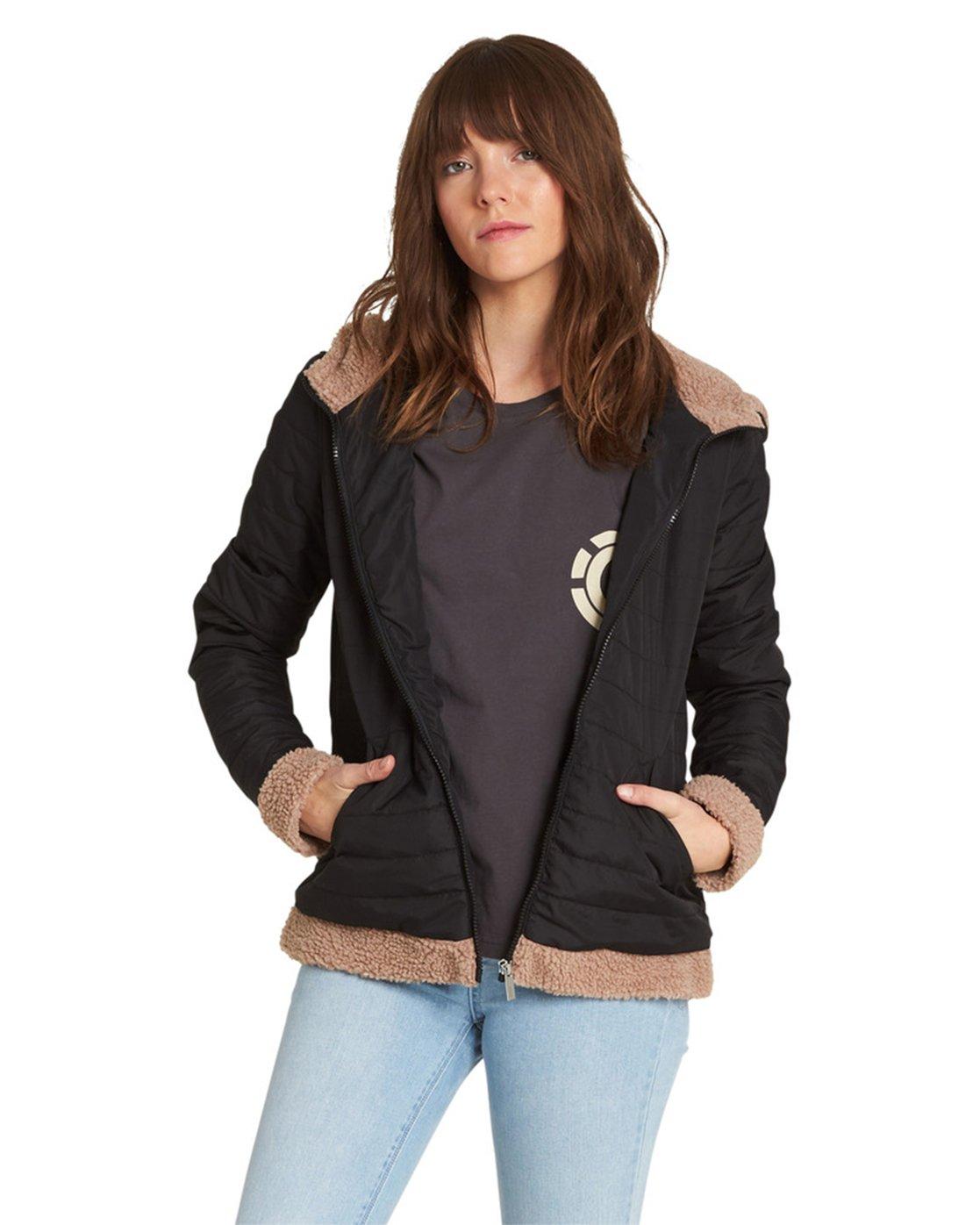 3 Sherpy Jacket Black J713SESH Element