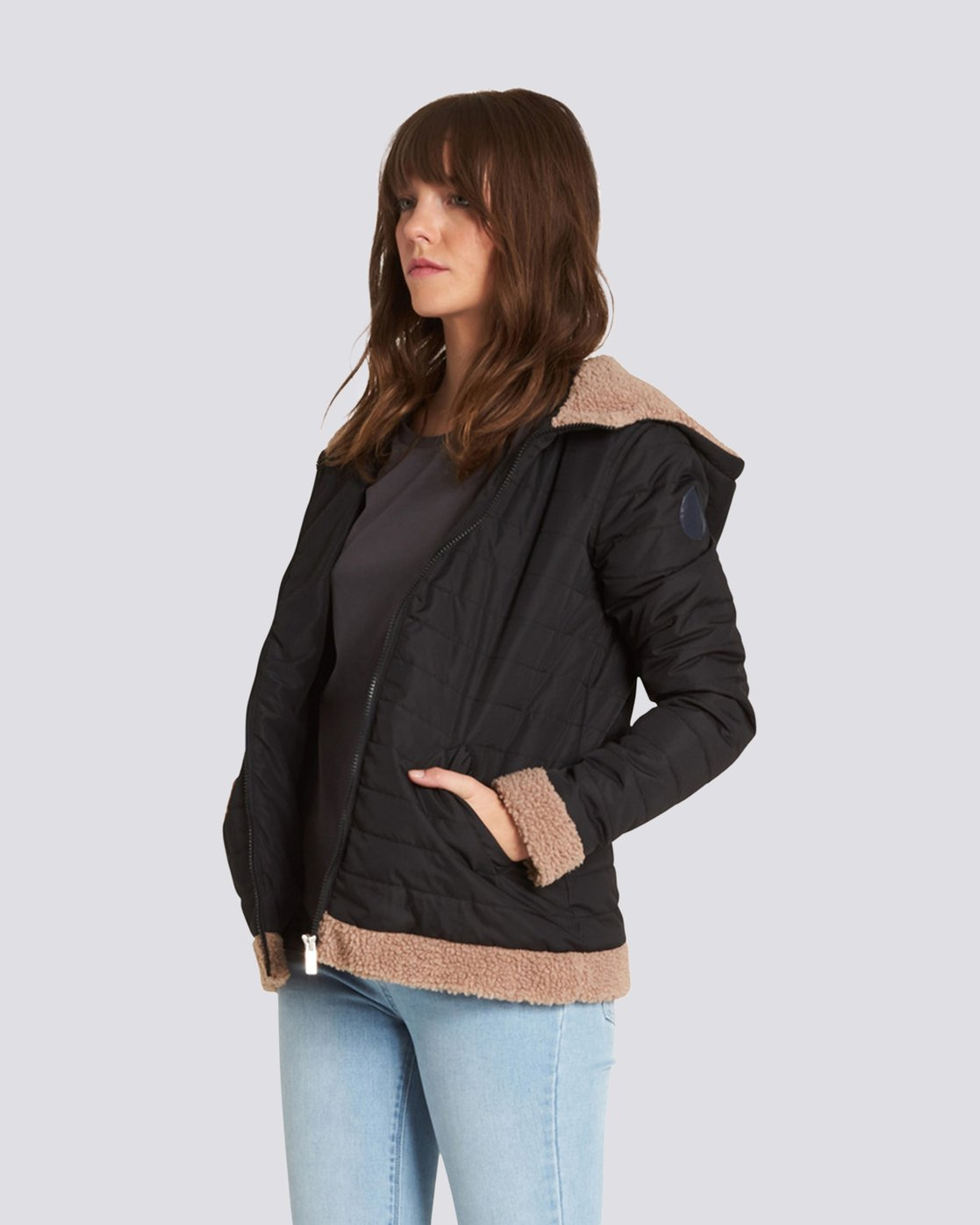 2 Sherpy Jacket Black J713SESH Element