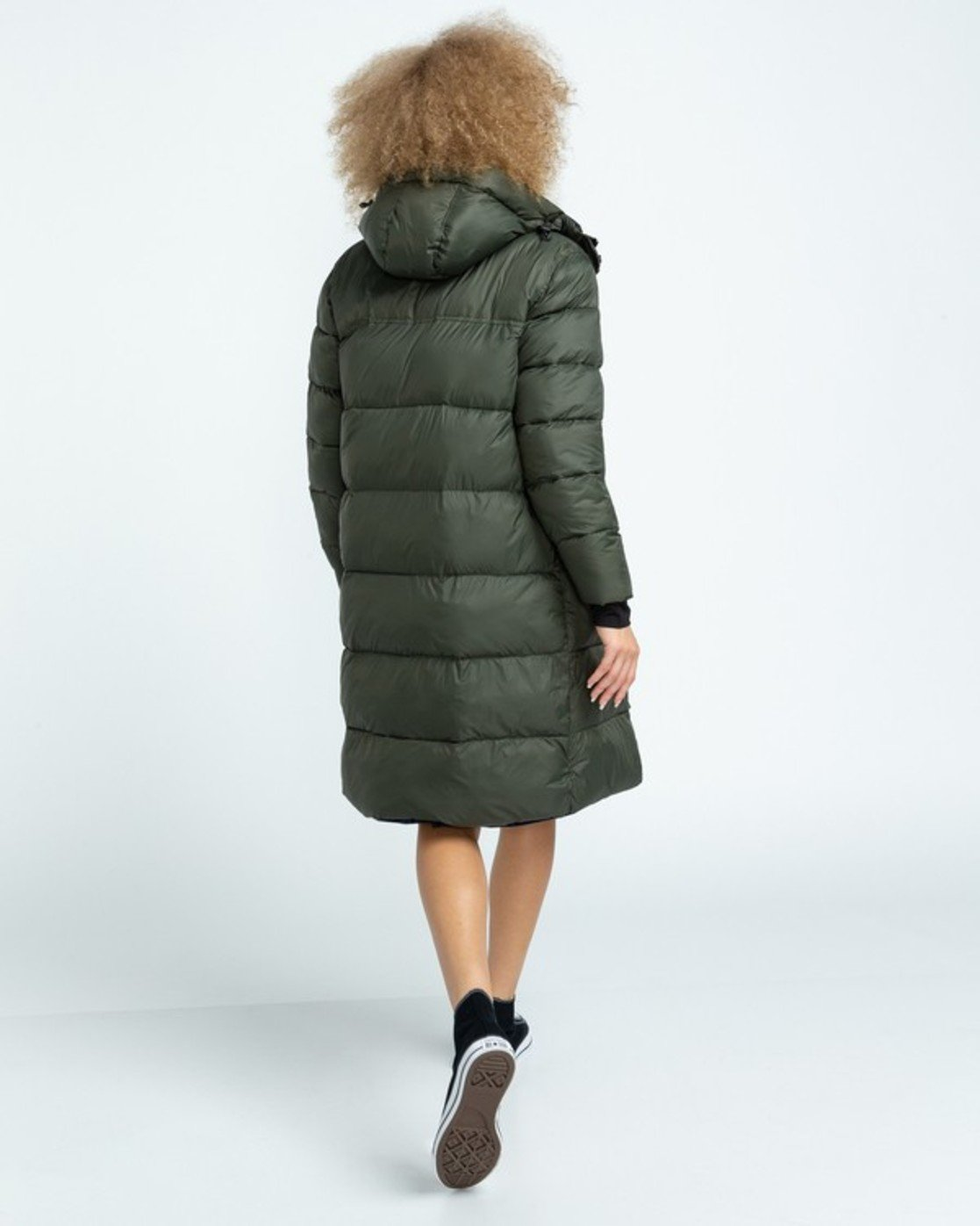 2 Wolfeboro Dulcey Long Puffer Jacket Green J7243EDL Element