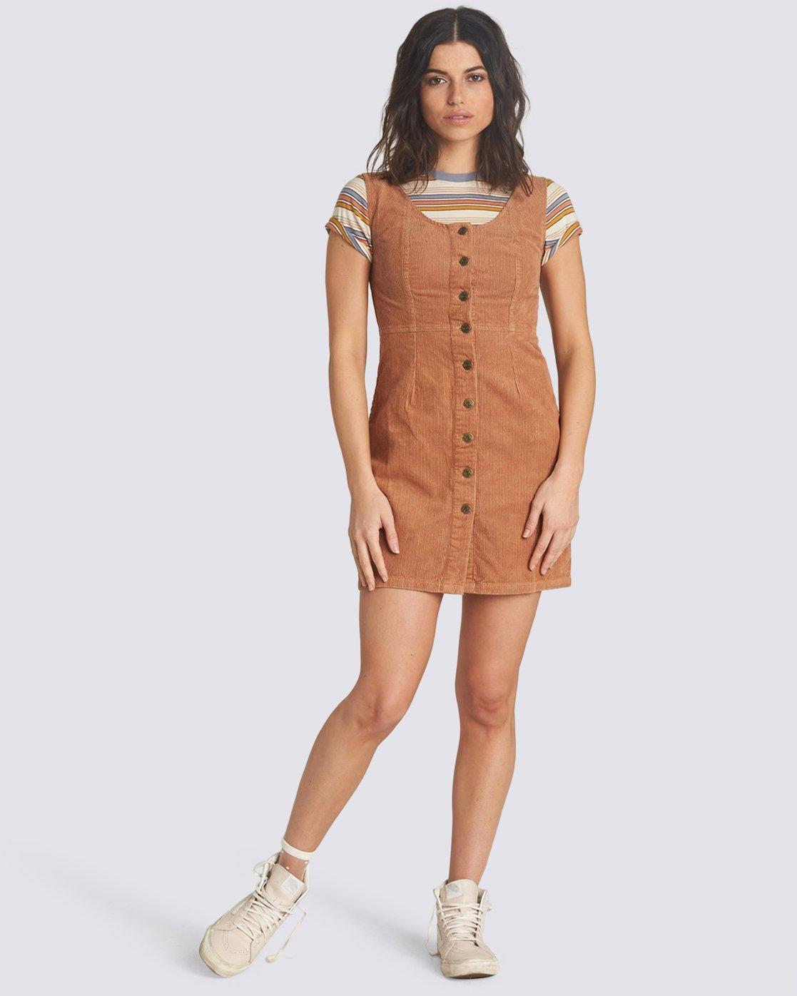 0 Mony Dress Brown JD21VEMO Element