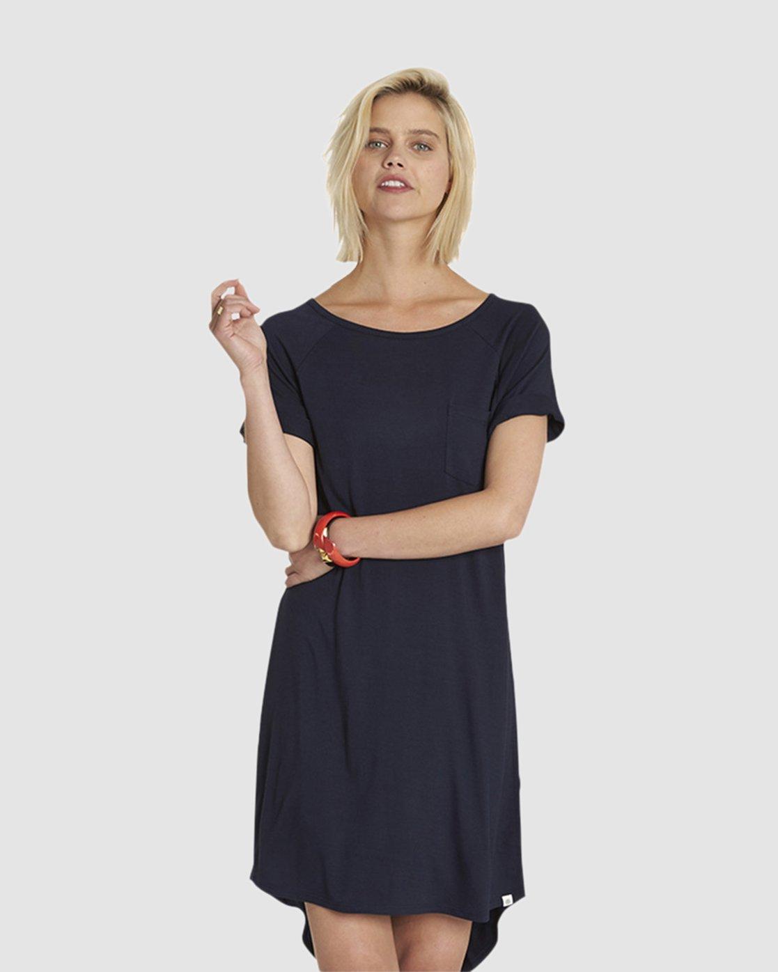 6 Lovely Tee Dress Blue JD46NELO Element