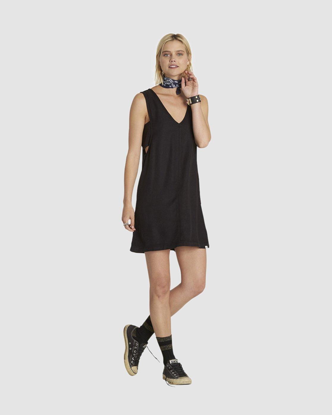 1 Else Woven Tank Dress Black JD49PEEL Element
