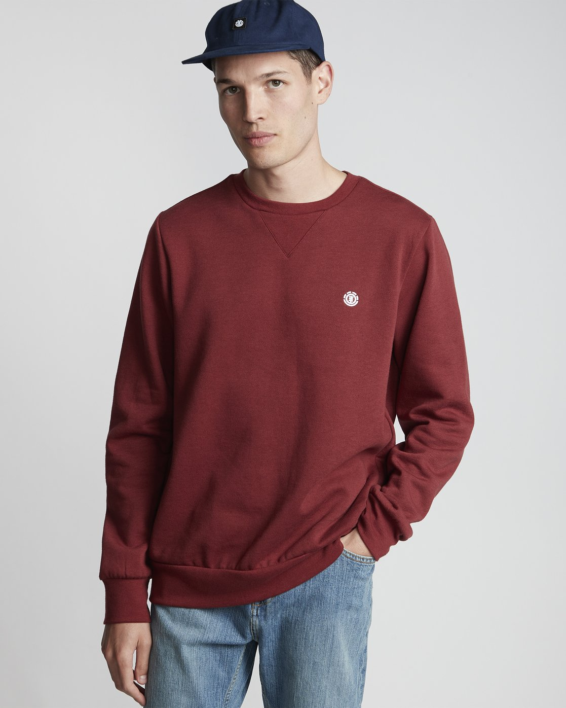 1 Cornell Classic - Sweatshirt for Men Red L1CRA1ELF8 Element