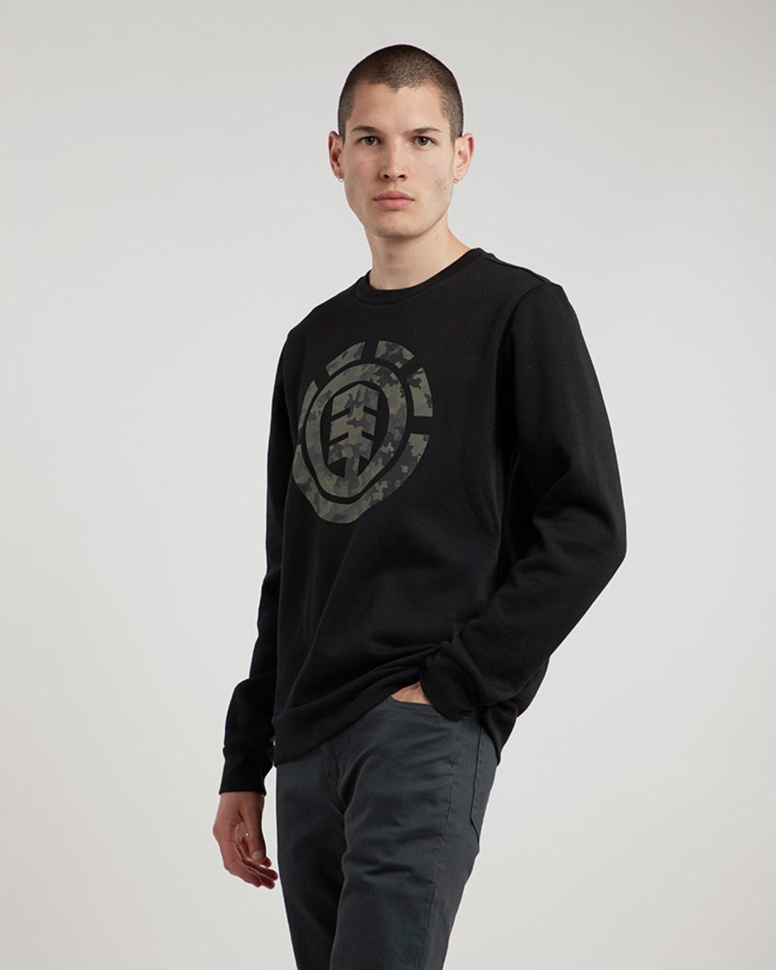 0 Bark Logo Crew - Fleece for Men  L1CRB1ELF8 Element