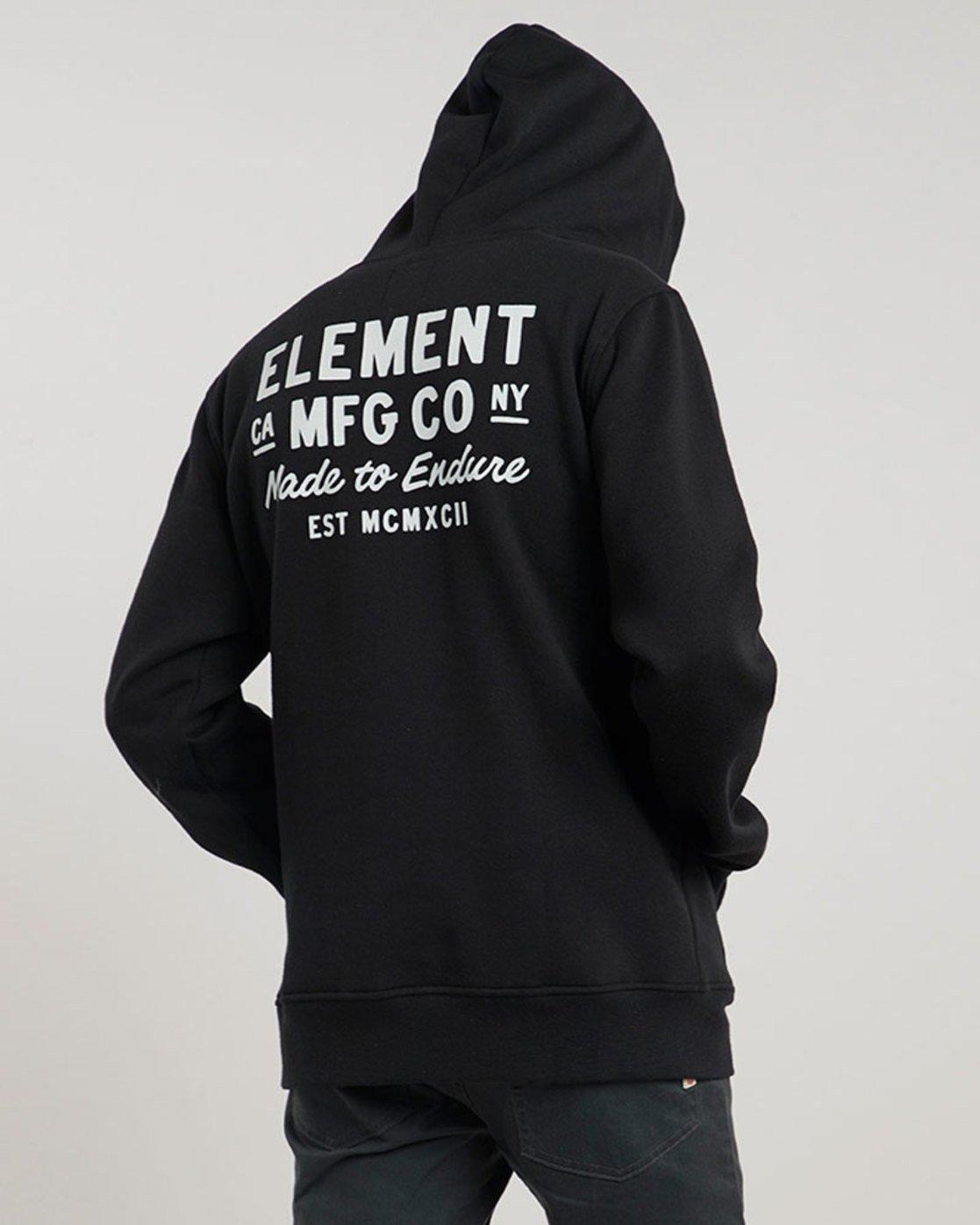 1 Sign Hood - sweat pour Homme Noir L1HOC1ELF8 Element
