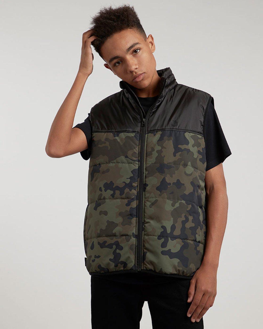 0 Puff Vest Tw - vestes pour Homme Camo L1JKB1ELF8 Element