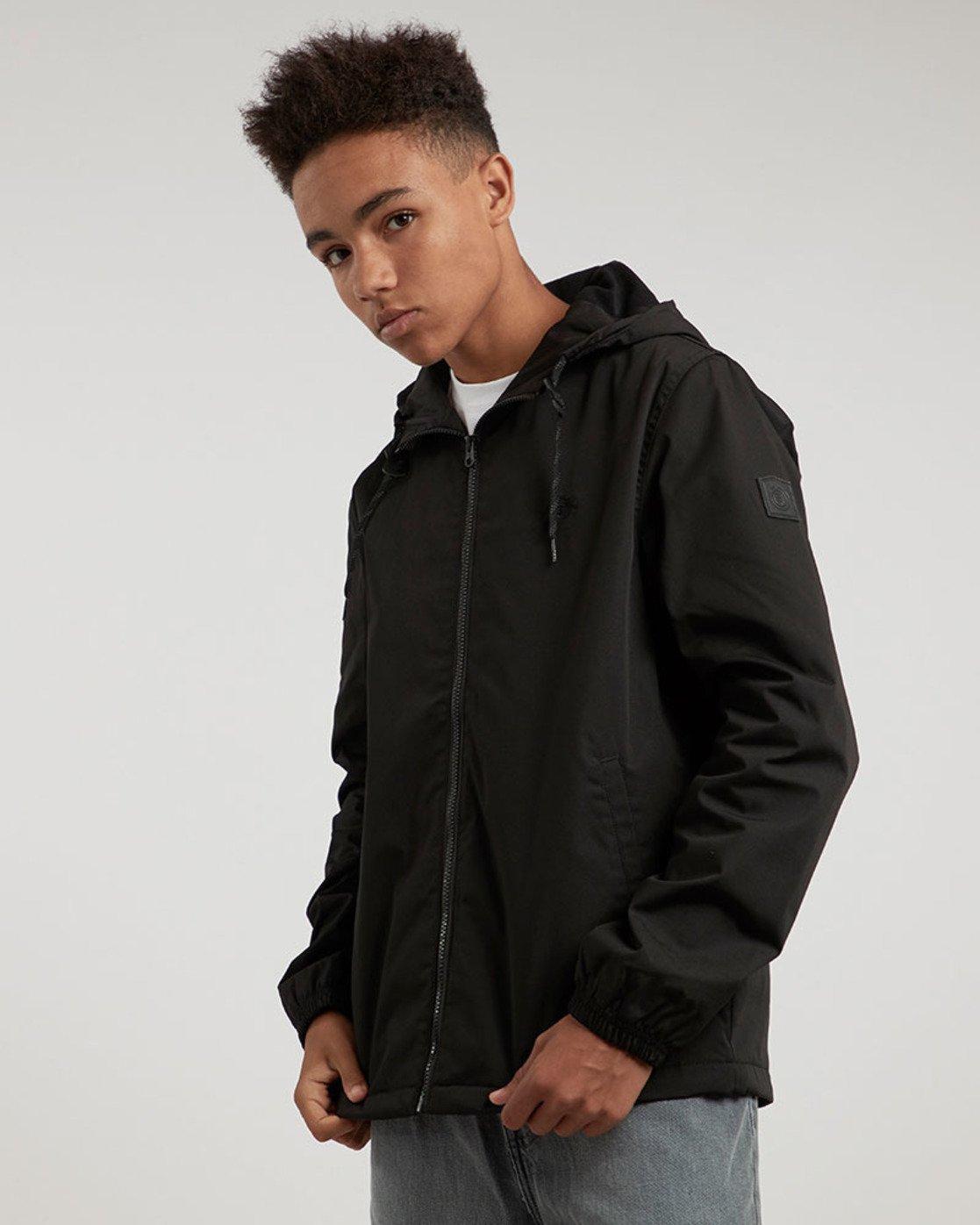 0 Alder - Hooded Jacket Black L1JKB5ELF8 Element