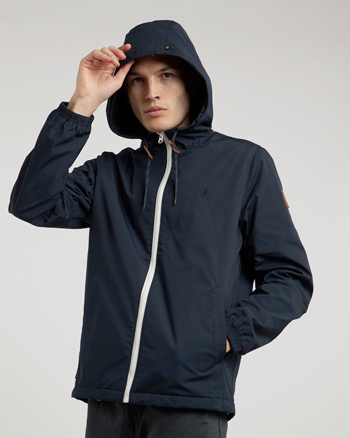 1 Alder - Hooded Jacket Blue L1JKB5ELF8 Element