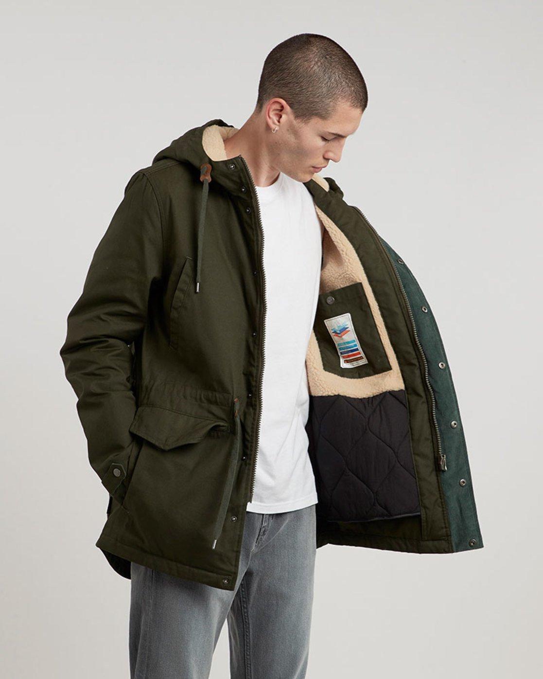 1 Roghan - Jacket for Men Green L1JKC8ELF8 Element