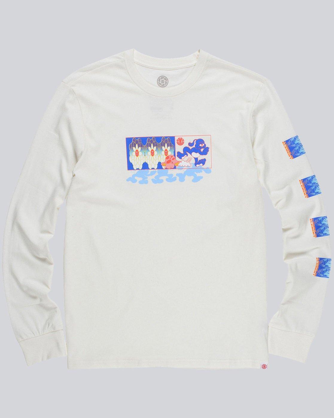 3 Mushroom Ls - Tee Shirt for Men  L1LSC8ELF8 Element