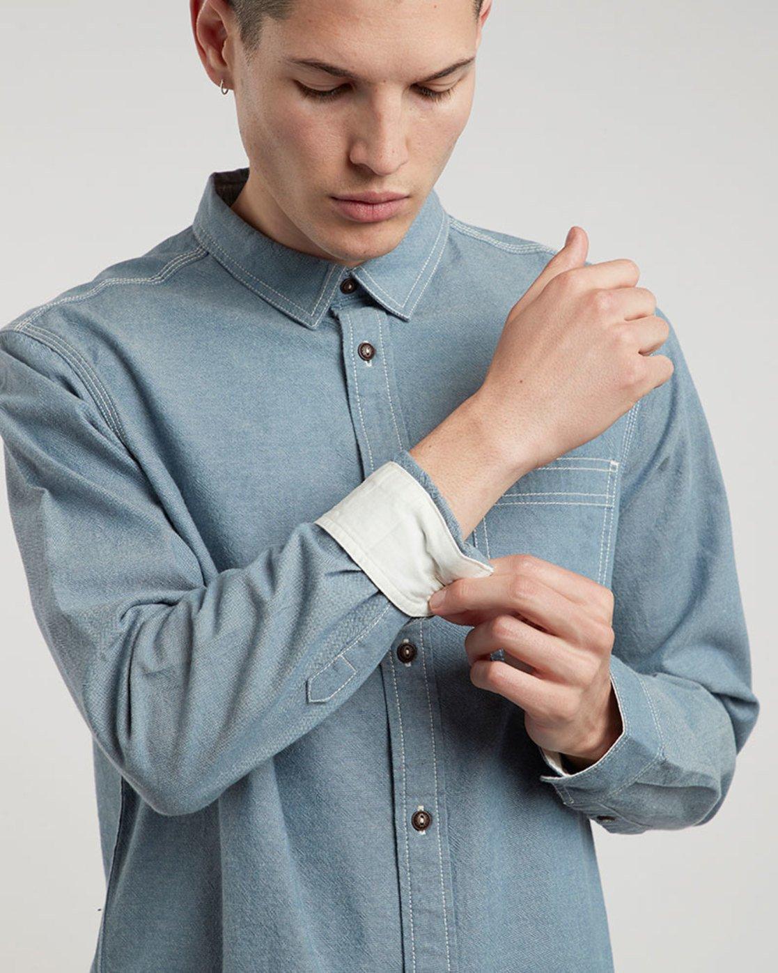 1 Preston Ls - Shirt for Men Blue L1SHB2ELF8 Element