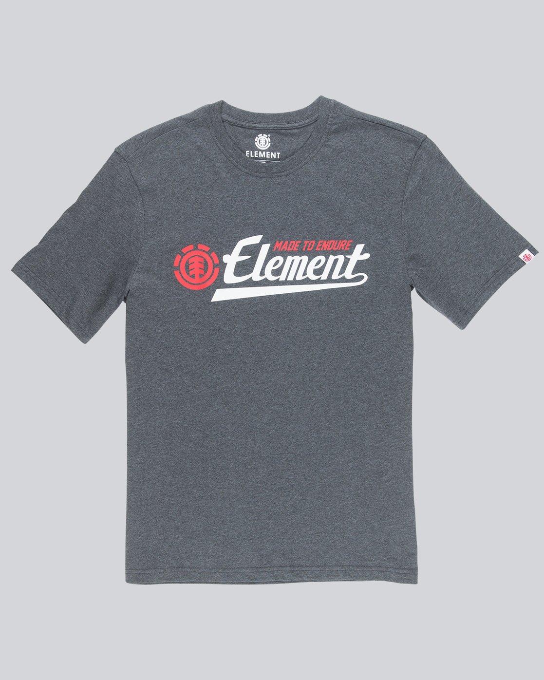 3 Signature Ss - Tee Shirt for Men Grey L1SSA8ELF8 Element