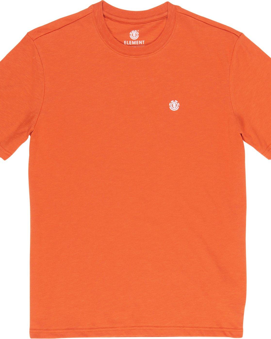 1 Crail - Short Sleeve T-Shirt for Men Orange L1SSE5ELF8 Element