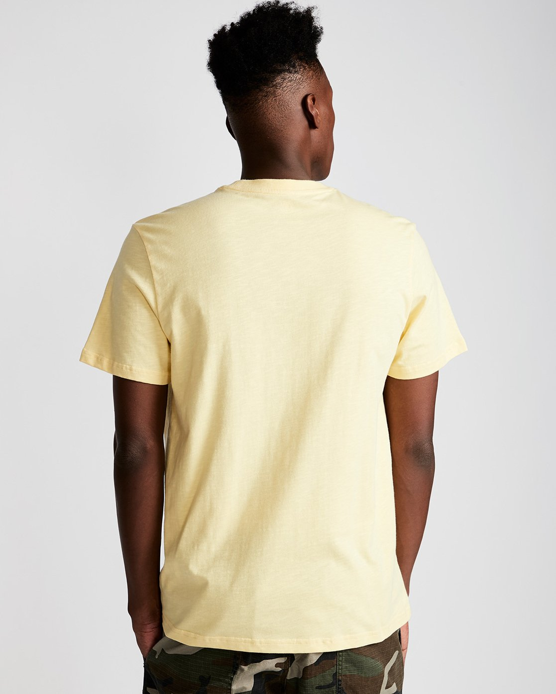 2 Crail - Short Sleeve T-Shirt for Men Yellow L1SSE5ELF8 Element