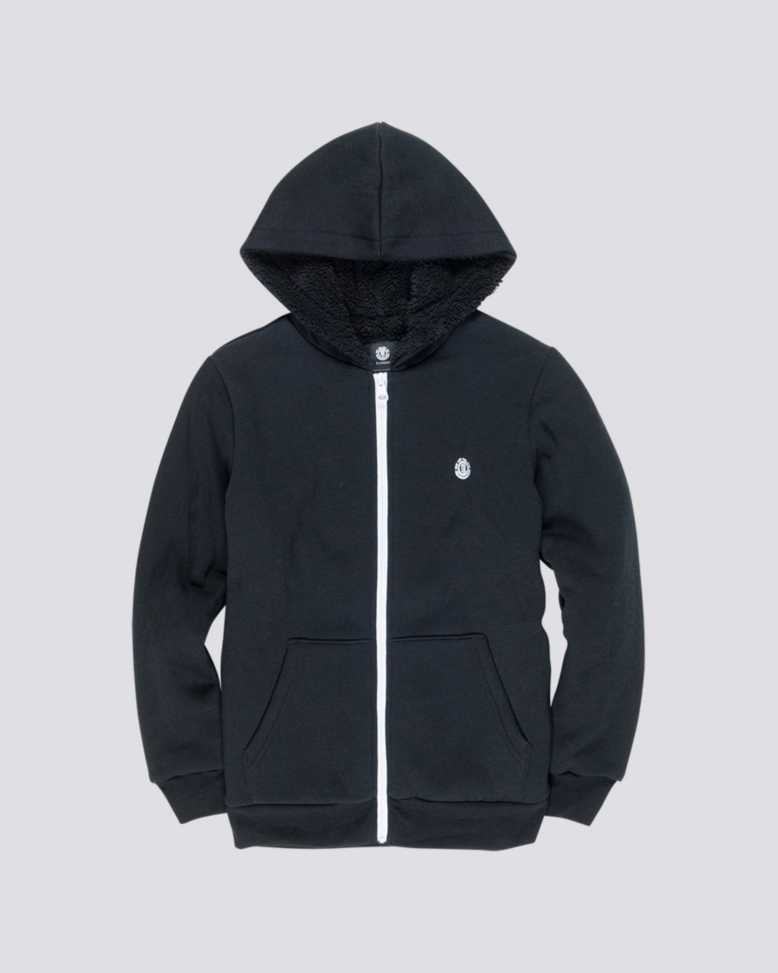 0 Bolton Boy - Zip-Up Hoodie Black L2WAA1ELF8 Element