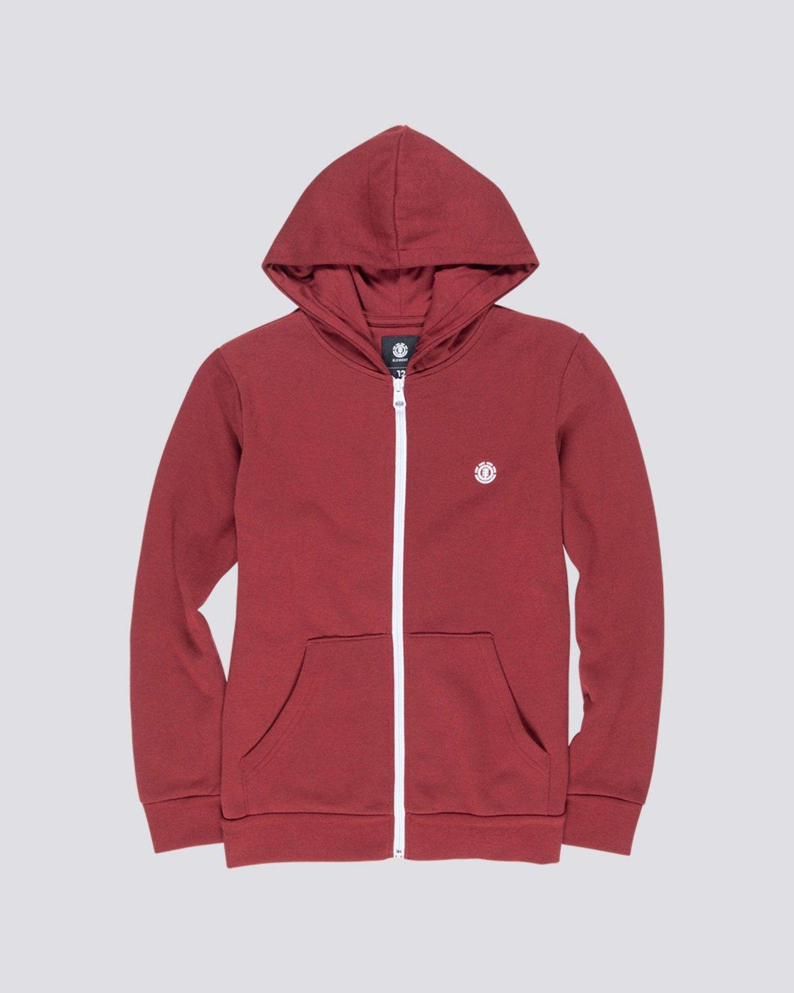 0 Cornell Classic Boy - Zip-Up Hoodie Red L2ZHA1ELF8 Element