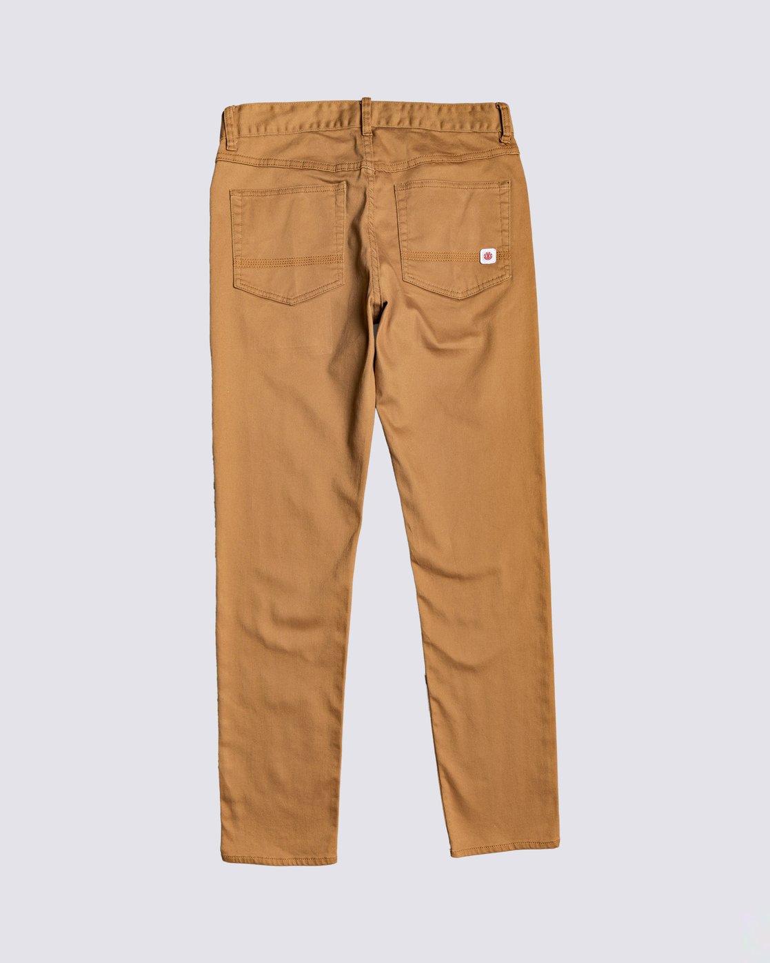 1 E02 Color Twill Pant Brown M3063E2C Element