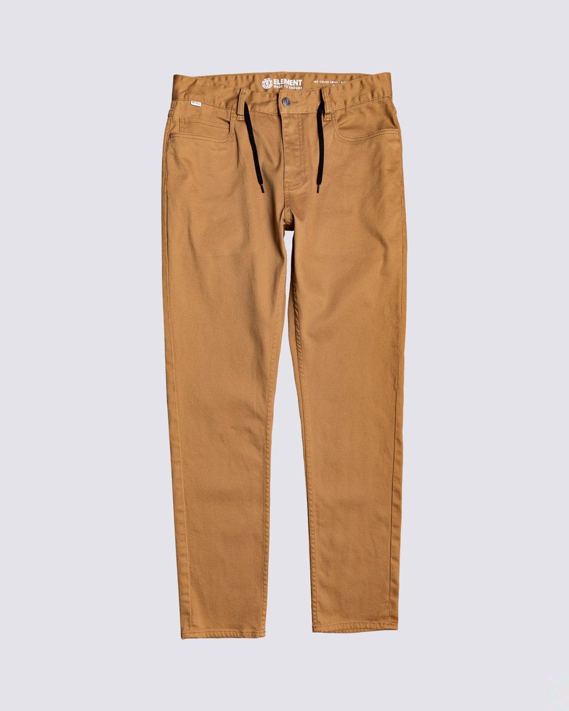 0 E02 Color Twill Pant Brown M3063E2C Element