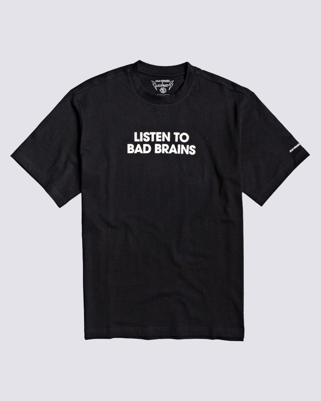 0 Listen to Bad Brains T-Shirt Blue M4031ELI Element