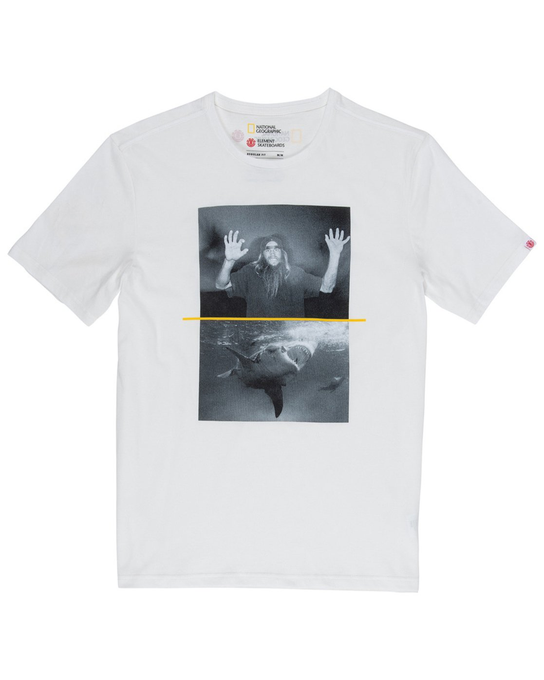 1 Nat Geo Shark Tee White M406VESF Element