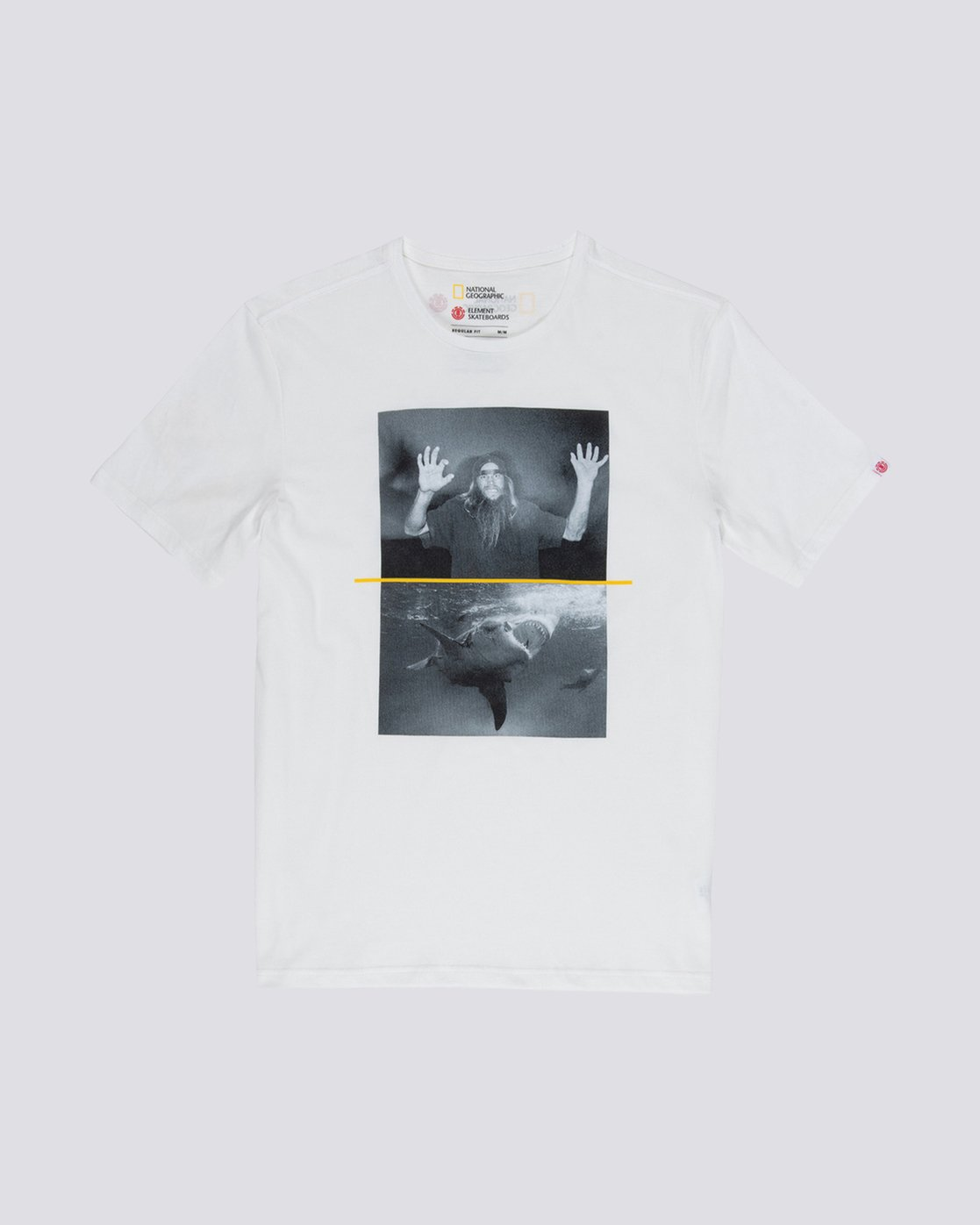0 Nat Geo Shark Tee White M406VESF Element