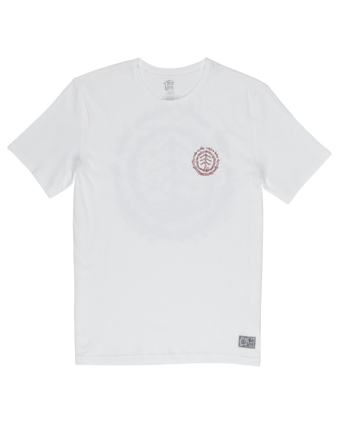 2 Too Late Logo Tee White M406VETO Element