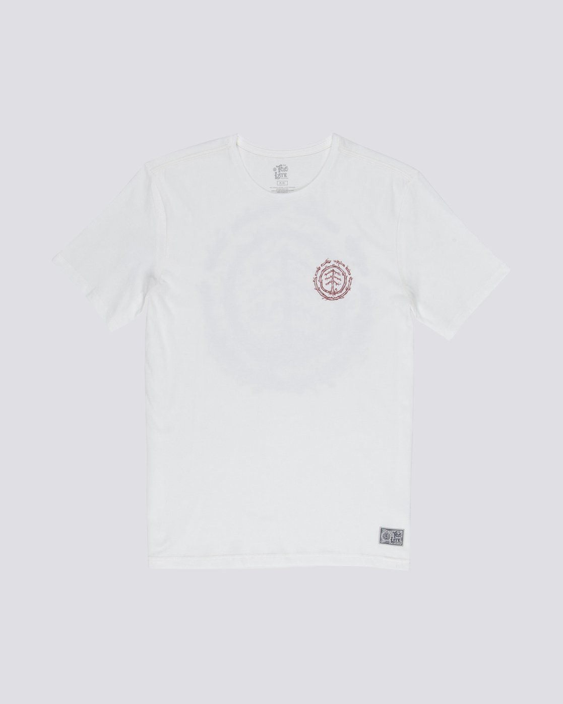 0 Too Late Logo Tee White M406VETO Element