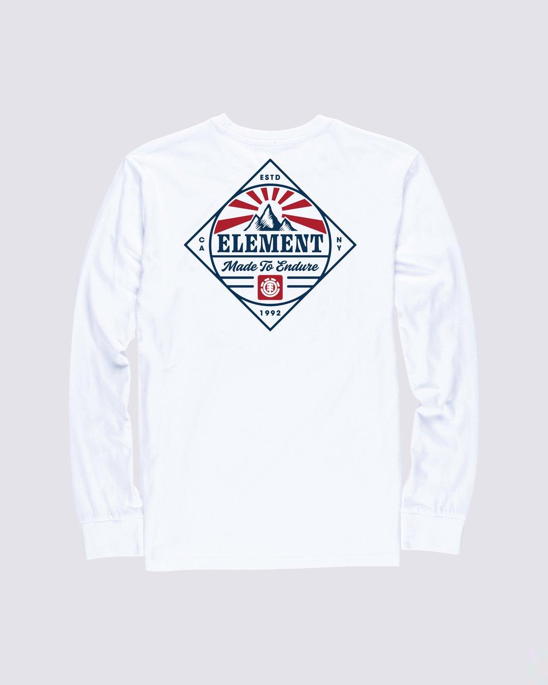 1 Medwell Long Sleeve Shirt White M4704EME Element