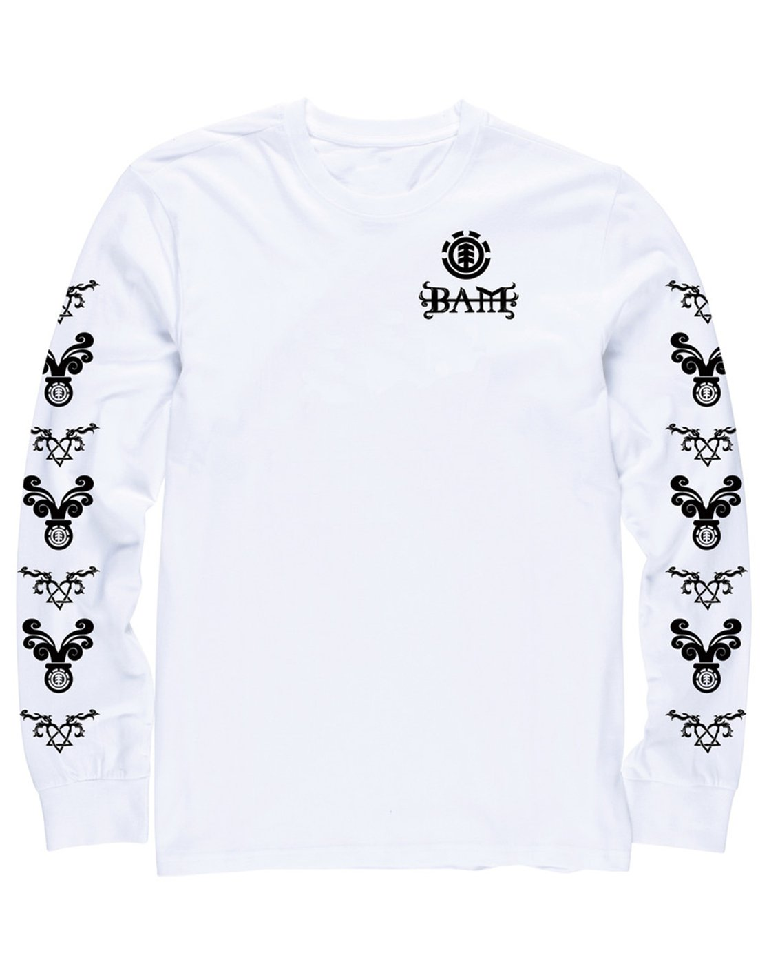 1 Bam Heartagram Long Sleeve Tee  M475SEBH Element