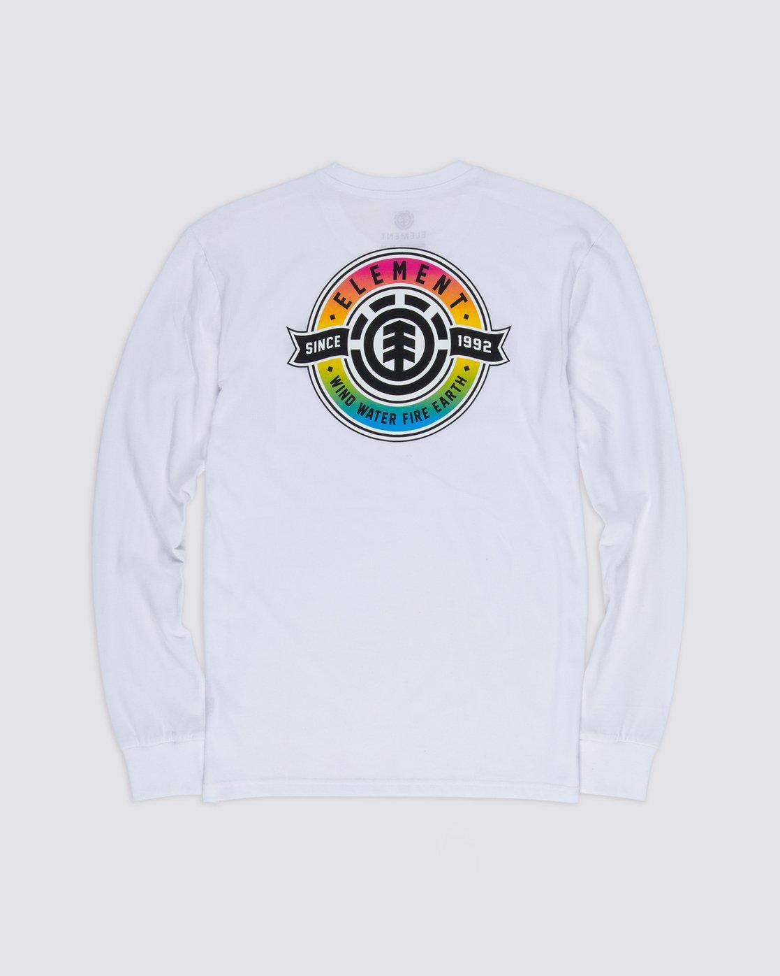 1 Medallian Long Sleeve T-Shirt White M475VEME Element