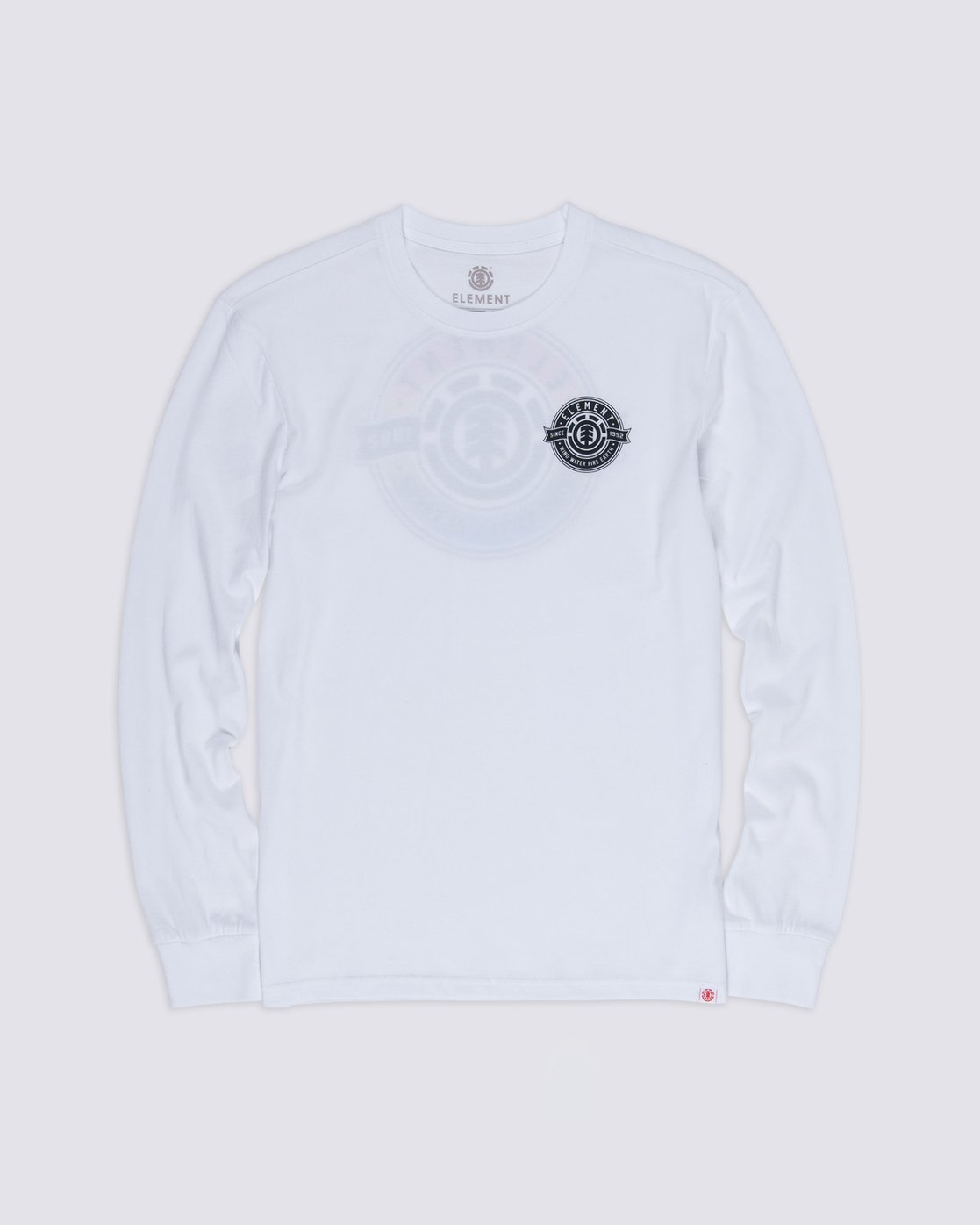 0 Medallian Long Sleeve T-Shirt White M475VEME Element