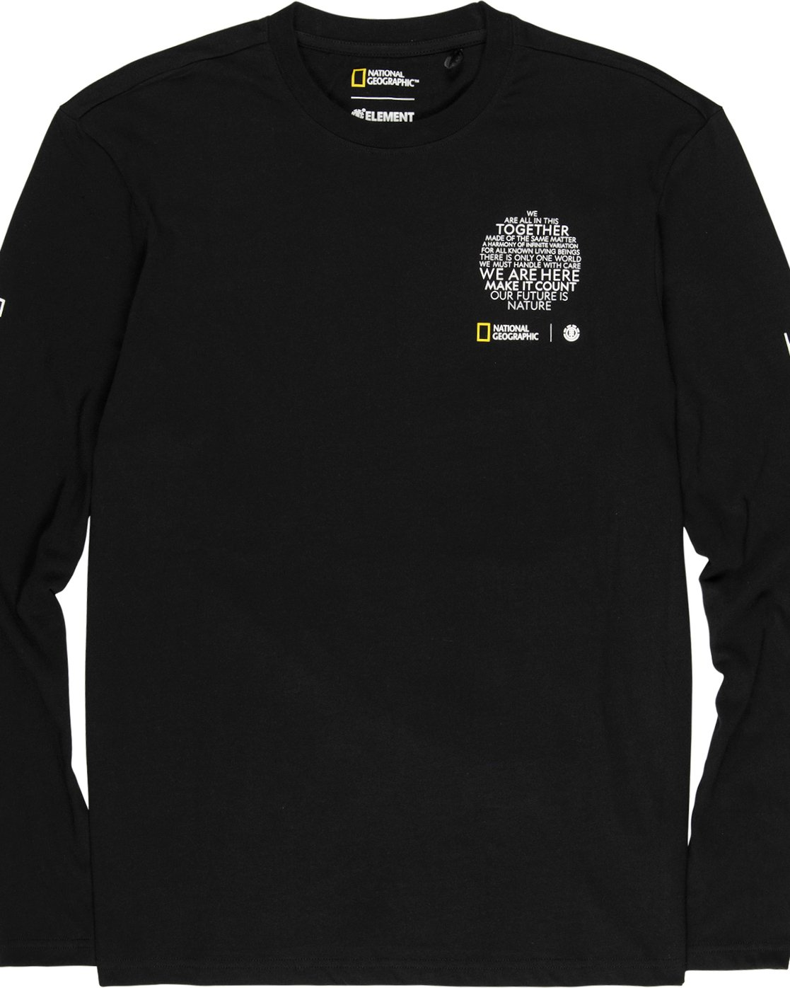 2 Nat Geo Earth Long Sleeve T-Shirt Blue M4851EEA Element